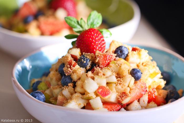 sweet special food breakfast recipes diet food desserts  Фруктовый салат и про новый блендер Philips  Яблоки Груши