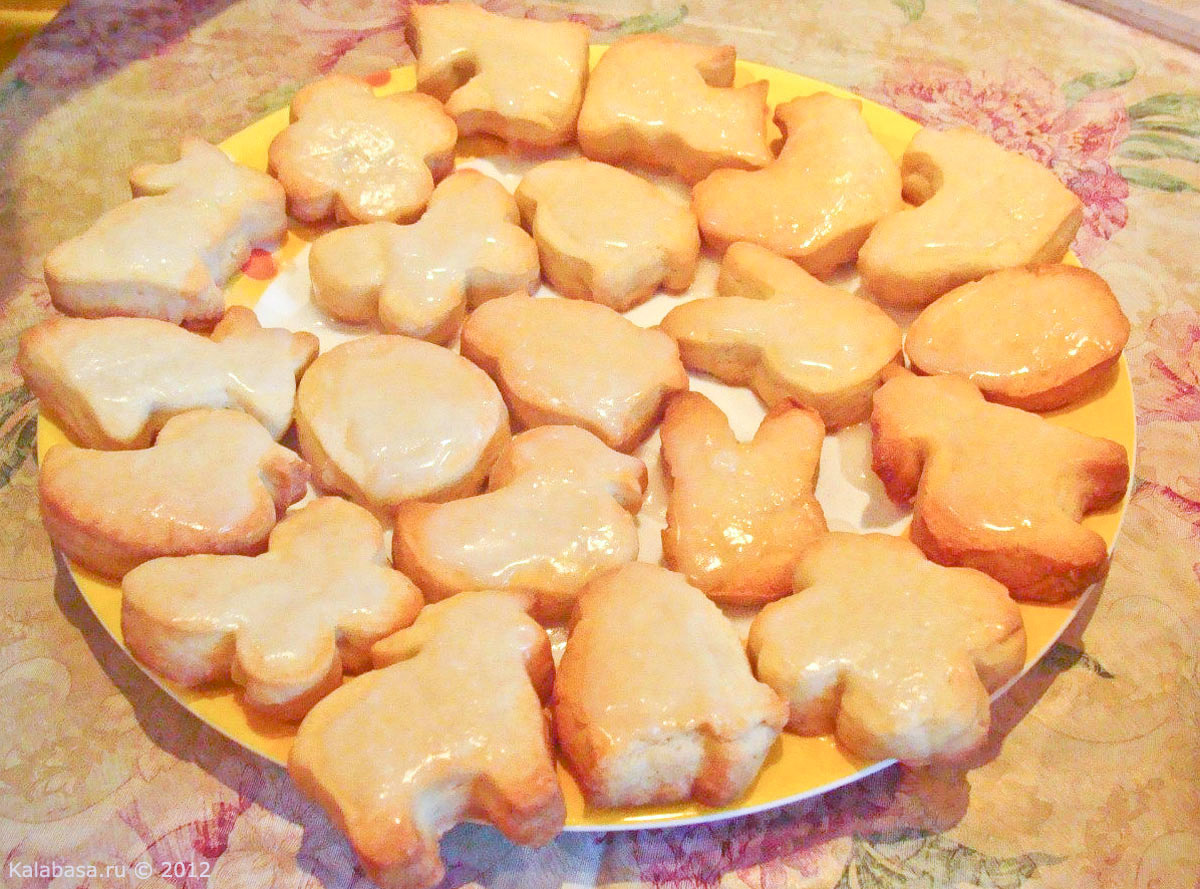 Печеньки на кефире в духовке рецепт пошагово