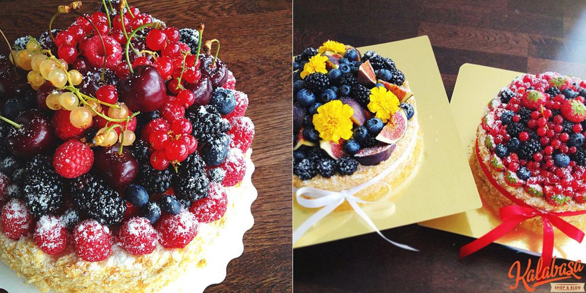 Наполеон с фруктами с фото
