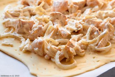 4l Пирог с грибами и сметаной