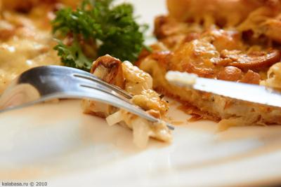9l Пирог с грибами и сметаной