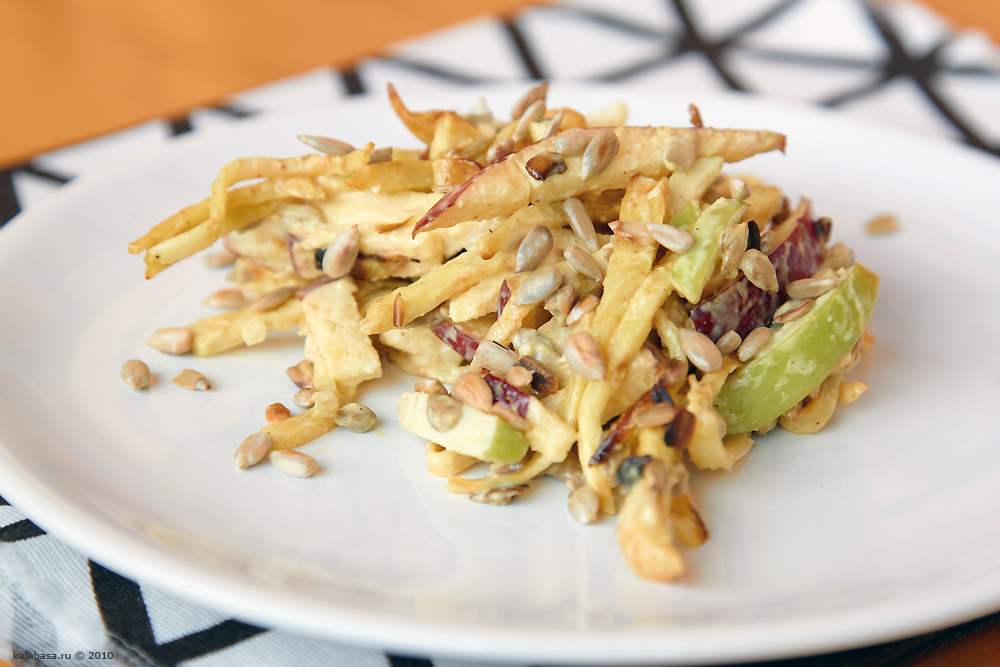 Салат с корня сельдерея