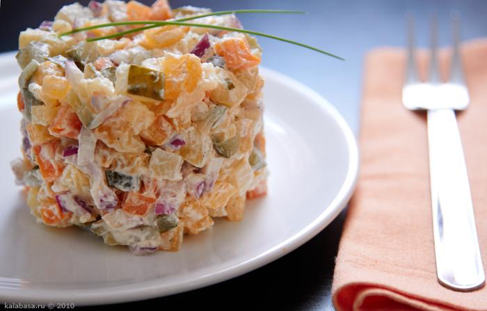 salaty vegetable salads calendar vse podryad  Праздничное! и салат Репа Морковь Картофель