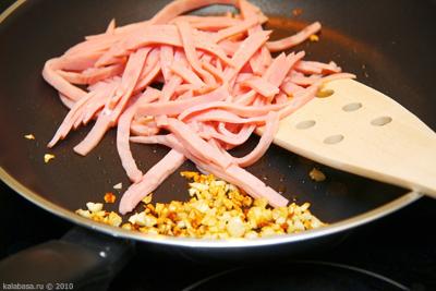 paste and groats main course 20 minute meals  Тальятелле с ветчиной и сливочным соусом Яйца Сливки Ветчина