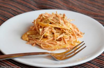 salaty  Морковь, перец, курица Сметана Перец Морковь Курица