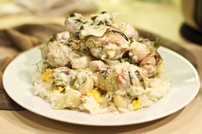 holiday recipes special food main course meat 20 minute meals  Сливочная курица с тархуном Тархун Сливки Курица