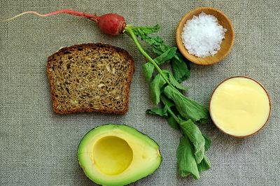 snack 20 minute meals  Бутерброды с авокадо Редис Авокадо
