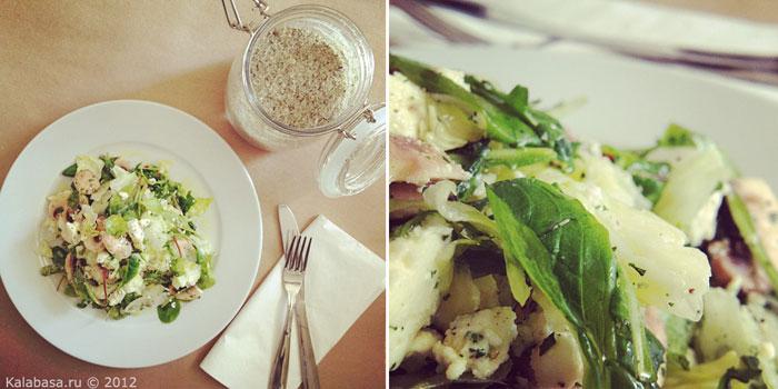 salaty special food vegetable salads vegetarianskie recepty 20 minute meals  Быстрый салат с грибами и творожным сыром Шампиньоны Зелень Грибы