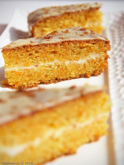 Рецепт морковного пирога на сметане