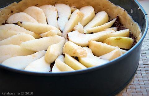 sweet pie and cakes vse podryad  Пирог с грушами и шоколадом Яйца Шоколад Сливки Груши