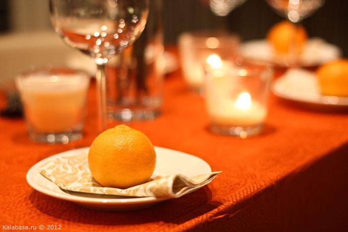servirovka stola  Сервировка. Оранжевое