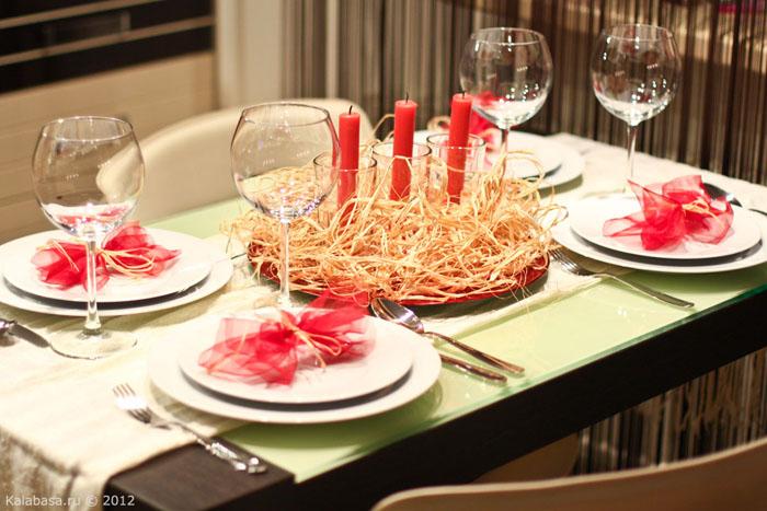 servirovka stola  Сервировка. Красное