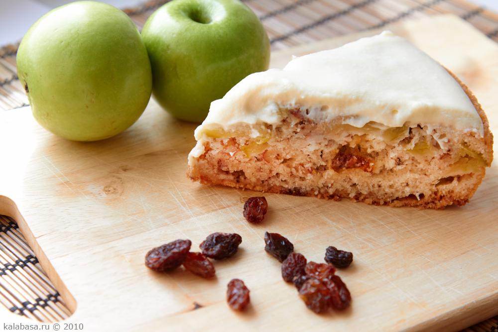Шарлотка с яблоками и кремом рецепты 61