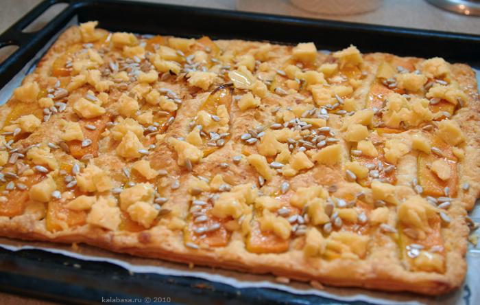 pirogi pizza baking and bread vse podryad  Пирог с тыквой, сыром и семечками Тыква Сыр Орехи