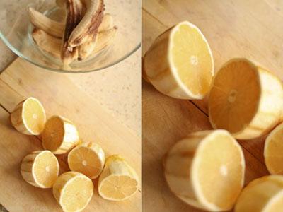 sweet desserts  Бананово лимонное сорбе Лимоны Бананы