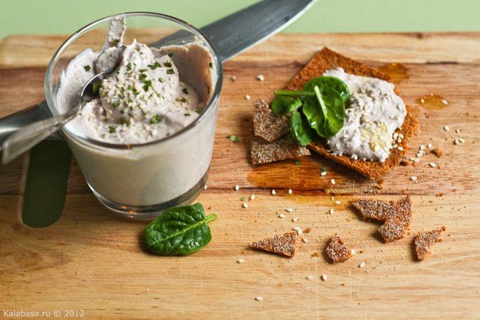 sause snack sandwiches  Постная намазка из тофу и грецких орехов  Тофу Орехи