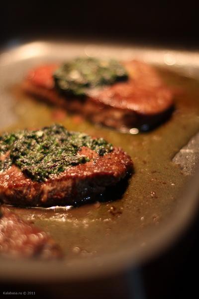 main course meat vse podryad  Стейк с пряным маслом Говядина